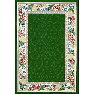 Nejad Rugs Bucks County - Damask 2 x 3 Emerald Green/vory 1009EMIY