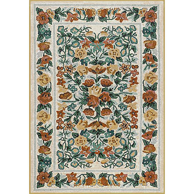 Nejad Rugs Bucks County - Floral Garden 3 x 6 Runner Ivory/Ivory 1002IYIY