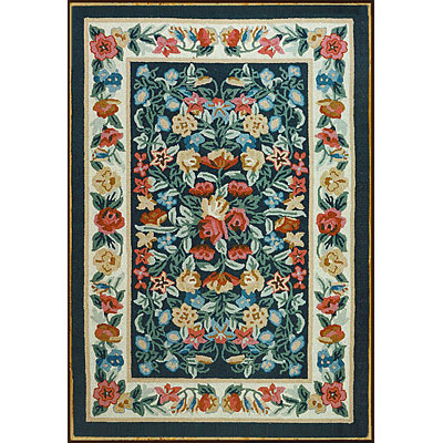 Nejad Rugs Bucks County - Floral Garden 3 x 6 Runner Navy/Ivory 1002NYIY