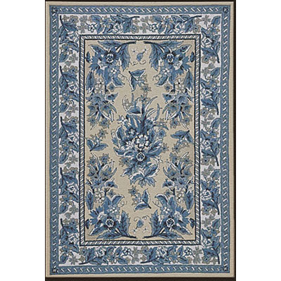Nejad Rugs Bucks County - Sarough 3 x 8 Runner Ivory/Blue 1008IYBL