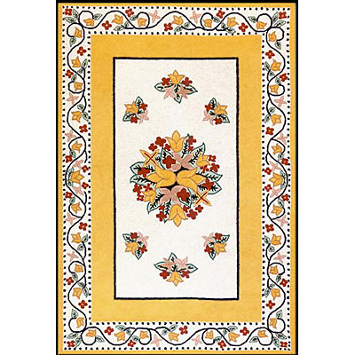Nejad Rugs Bucks County - Tulip 6 x 9 Ivory/Yellow 1003IYYL