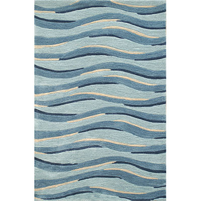 Nejad Rugs Ocean Waves 5 x 8 Ocean Waves Blue AT070 BL
