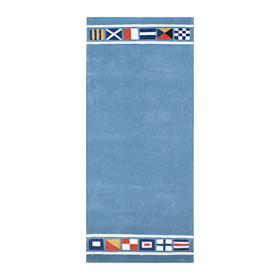 Nejad Rugs Nautical Flags 3 X 10 Runner LIGHT BLUE AT042 LB