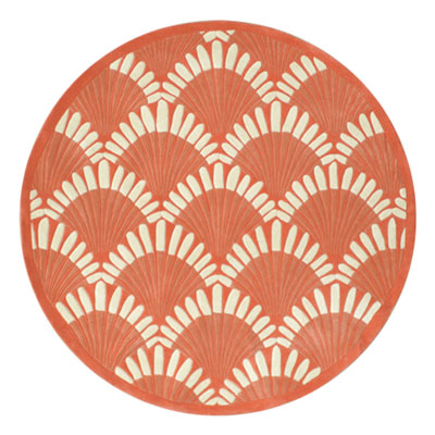 Nejad Rugs Shells Nouveau 8 Round Coral AT072 CO