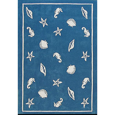 Nejad Rugs Shells & Seahorses 5 x 8 Blue AT041 BL