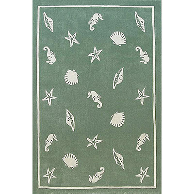 Nejad Rugs Shells & Seahorses 4 x 6 Seafoam AT041 SF