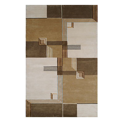 Nejad Rugs Architectual Elements 8 x 10 Ivory/Brown CC011 IYBN