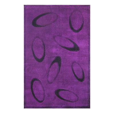 Nejad Rugs Le Cirque 5 X 8 PURPLE/BLACK ML001 PRBK