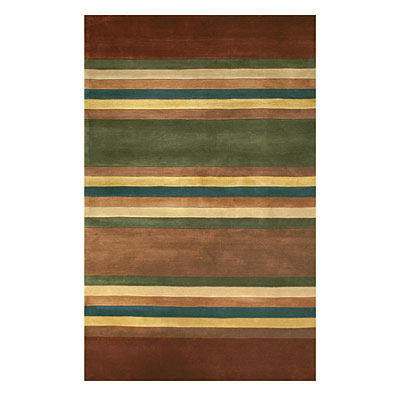 Nejad Rugs Modern Stripes 4 X 6 Earth Tones WT004 ERT