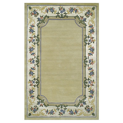 Nejad Rugs Floral Garden 8 x 10 Floral Border Pale Yellow/Ivory BB001 PYYL