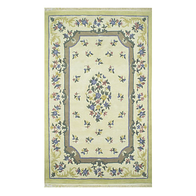 Nejad Rugs French Country 2 x 3 Floral Aubuson Ivory/Yellow 2001 IYYI