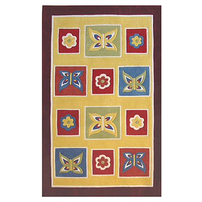 Nejad Rugs The Kids Rugs 5 X 8 Butterflies Yellow/Purple AT050YLPR