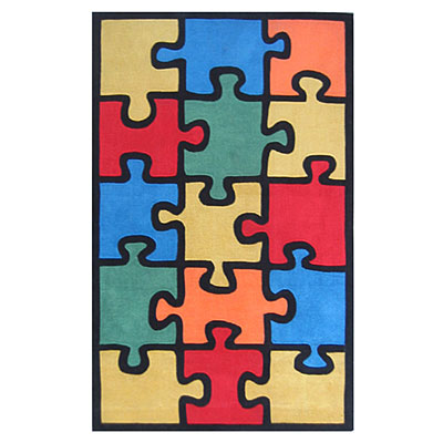 Nejad Rugs The Kids Rugs 5 X 8 Jigsaw Puzzle Multi/Colors AT053 MT