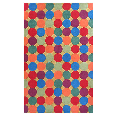 Nejad Rugs The Kids Rugs 5 X 8 Gumballs Yellow/Multi AT054 YLMT