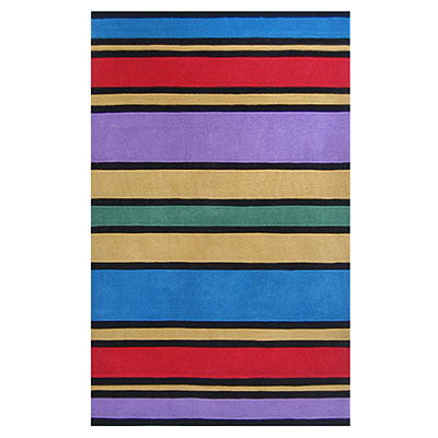 Nejad Rugs The Kids Rugs 5 X 8 Comic Bood Stripes Multi AT057 MT