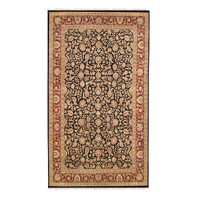 Nejad Rugs Mansion 16 X 26 Kashan BLACK/BURGUNDY 42190BKBR