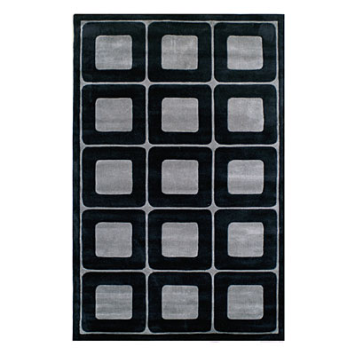 Nejad Rugs Deco Blocks 5 X 8 BLACK/GREY AT061 BKGY
