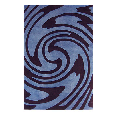 Nejad Rugs Jazzy 5 x 8 BLUE/BLACK AT059 BLBK
