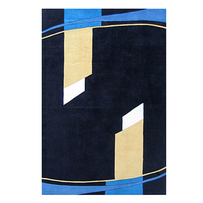 Nejad Rugs Nightlife 4 X 6 Black/Multi AT056 BK
