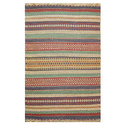 Nejad Rugs Santa Fe 4 x 6 Seagrass Stripes Multi/Ivory K035MT