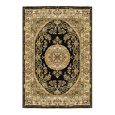 Nejad Rugs Signature Heirloom 6 X 9 Fine Savaneri Black/Gold M001 BKGO