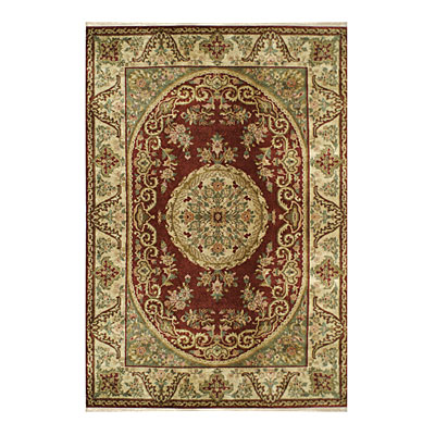 Nejad Rugs Signature Heirloom 6 X 9 Fine Savaneri Burgundy/Gold M001 BRGO