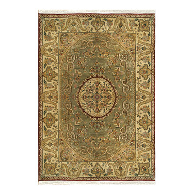 Nejad Rugs Signature Heirloom 6 X 9 Fine Savaneri Sage/Gold M001 SAGO