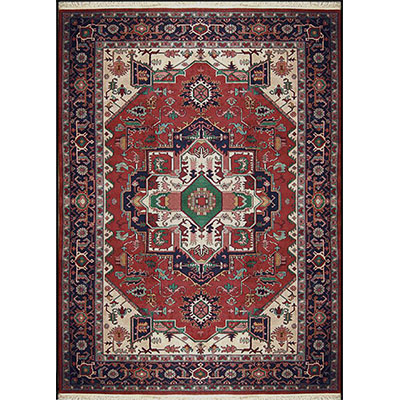 Nejad Rugs Signature Heirloom 6 X 9 Heriz Rust/Navy M003 RTNY