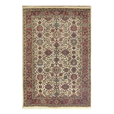 Nejad Rugs Signature Heirloom 6 X 9 Mahal Antique Ivory/Rust M006 IYRT