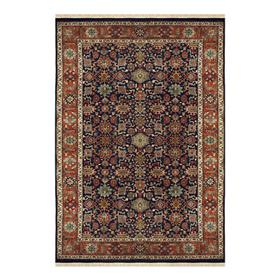 Nejad Rugs Signature Heirloom 10 x 14 Mahal Navy/Rust M006 NYRT