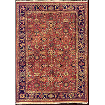 Nejad Rugs Signature Heirloom 6 X 9 Mahal Rust/Navy M006 RTNY