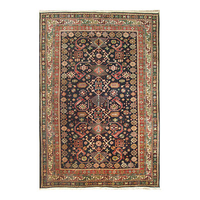 Nejad Rugs Signature Heirloom 6 X 9 Pepperdil Navy/Ivory M007 NYIY