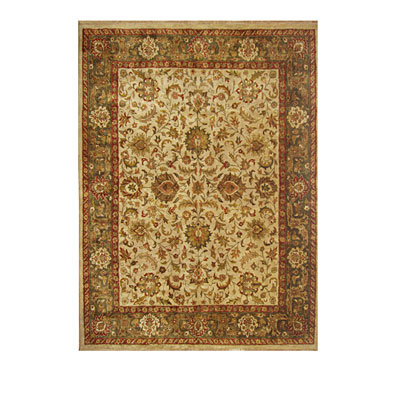 Nejad Rugs Signature Heirloom 10 x 14 Tabriz Antique Ivory/Sage M037 AISA