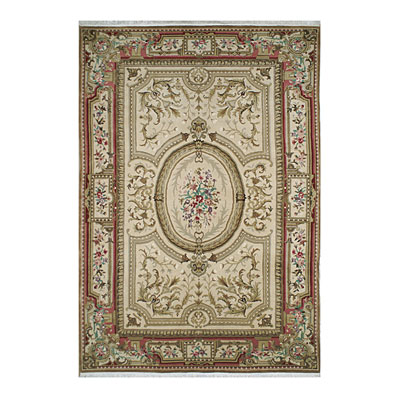 Nejad Rugs Signature Heirloom 6 X 9 Grand Aubuson Gold/Coral M039 GOCO