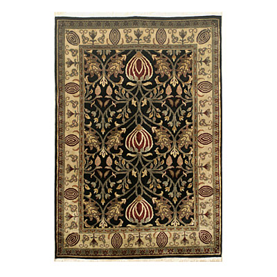 Nejad Rugs Signature Heirloom 2 x 3 Arts & Crafts Black/Ivory M051 BKIY