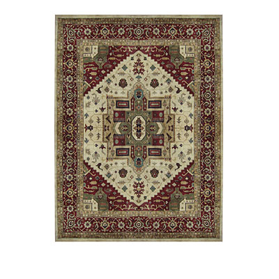 Nejad Rugs Signature Heirloom 6 X 9 Serapi Antique Ivory/Burgundy M068 AIBR