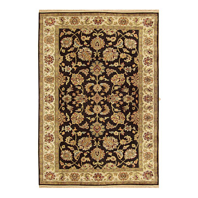 Nejad Rugs Signature Legacy 8x10 Agra Black/Antique Ivory M086 BKAI