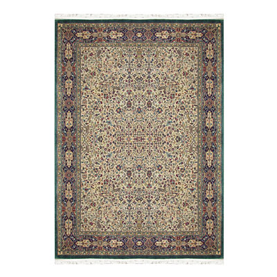 Nejad Rugs Signature Masterpiece 10 X 14 Hunt Tabriz Antique Ivory/Navy/Emerald M013 AINE