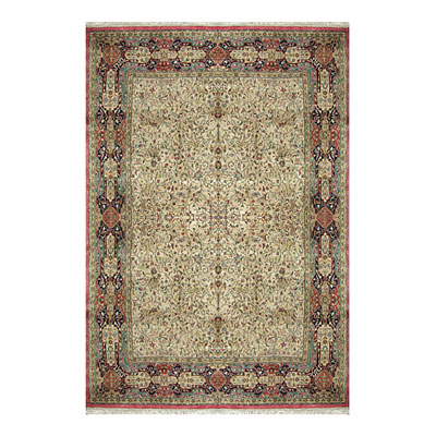 Nejad Rugs Signature Masterpiece 10 X 14 Hunt Tabriz Antique Ivory/Navy/Rust M013 AINR