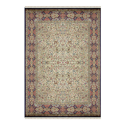 Nejad Rugs Signature Masterpiece 10 X 14 Hunt Tabriz Antique Ivory/Navy M013 AINY