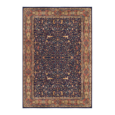 Nejad Rugs Signature Masterpiece 10 X 14 Hunt Tabriz Navy/Rust M013 NYRT