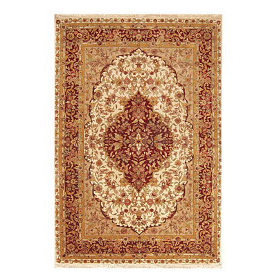 Nejad Rugs Signature Masterpiece 3 X 5 Kashan Medallion Gold/Burgundy M059 GOBR