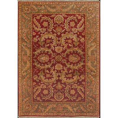 Nejad Rugs Signature Masterpiece 10 X 14 Old World Agra Burgundy/Emerald M028 BREM