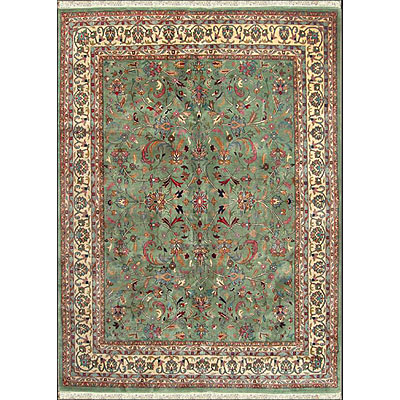 Nejad Rugs Signature Masterpiece 10 X 14 Kashan Light Green/Ivory M054 LGIY
