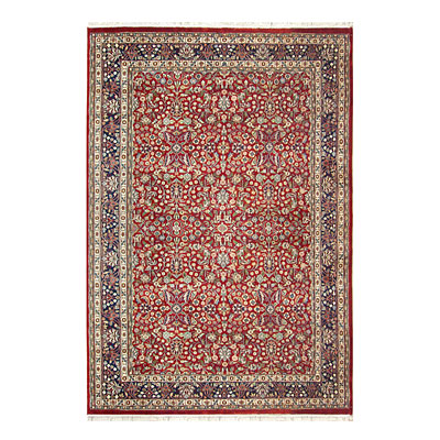 Nejad Rugs Signature Traditional 14 x 24 Tabriz Burgundy/Navy M002 BRNY