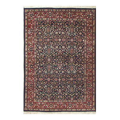 Nejad Rugs Signature Traditional 5 x 7 Tabriz Navy/Burgundy M002 NYBR