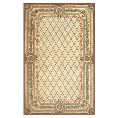 Nejad Rugs Tropical Island 4 x 6 Pineapple Aubuson Beige/Brown SP018 BGBN