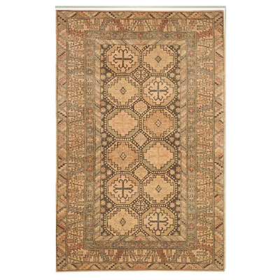 Nejad Rugs Village 5x8 Kazak Brown/Peach SV001 BNBG