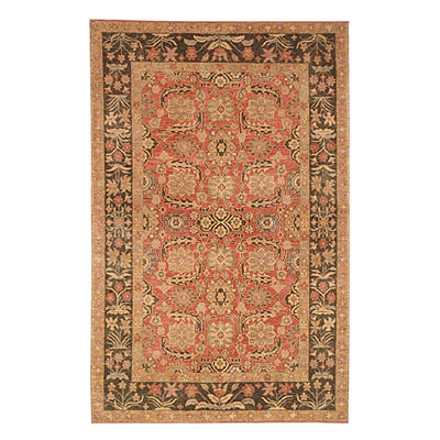 Nejad Rugs Village 4X6 Village Turkeman Rose/Brown SV002 RSBN