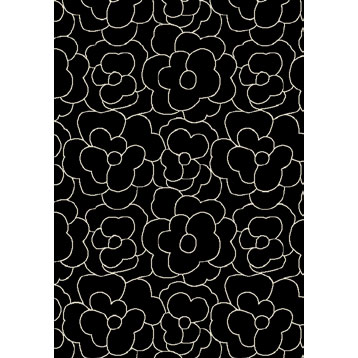 Orian Rugs Carolina Fleece 8 x 11 Rosey Black 22095-7